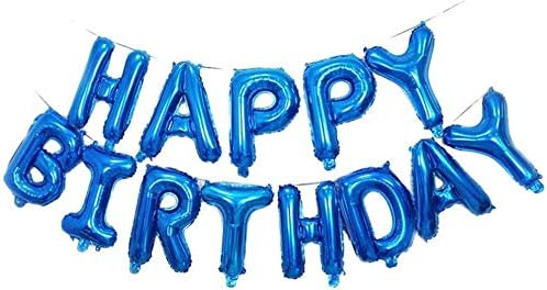 """16/""""LARGE HAPPY BIRTHDAY SELF INFLATING BALLOON BANNER BUNTING PARTY DECOR FOILUK"""