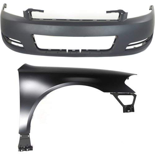 Bumper Cover Kit for Impala 2006-2013 / Impala Limited 2014-2016 Set of 2 With Front Bumper Cover & Fender(Right Side)