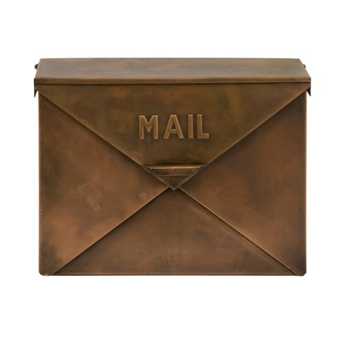 Wedding Mailbox - Imax 44090 Tauba Mail Box in Copper Finish - Use Multi-Dimensional Utility Box as Document Keeper, Letter Holder, Suggestion Box, Desk Organizer. Accent Piece for Home, Office