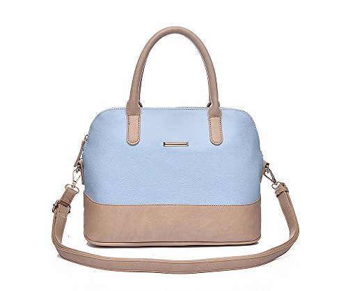 JoSa - Ladies Blue & Cream Bowling Bag - Full Zip & Cross Body Strap - FREE DELIVERY