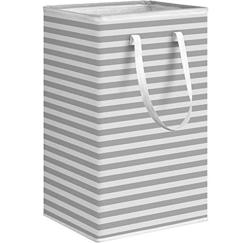 """WISELIFE Laundry Hamper, 75L Large Collapsible Tall Laundry Basket with Handles, Water Resistant Freestanding Clothes Hamper, Storage Basket, Storage Bags for Clothes Toys, 24.4""""(H),Grey"""