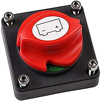 QUORA 12V//24V Dual Battery Isolator Switch Car RV Marine Boat 4 Position Disconnect Power Kill Switch Rotary Tool Battery Master Switch 300 Amp Control M10 Stud