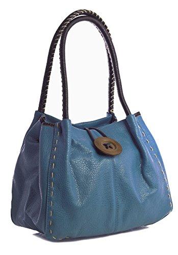2 Grado para One Bondi sintético Shop mujer PU Big Handbag Bolso Blue al z de hombro pn06OPWqwz