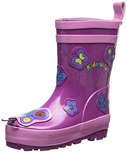 Kidorable Baby Girls' Butterfly Rain Boot (Toddler/Kid), Purple, 7 M US]()