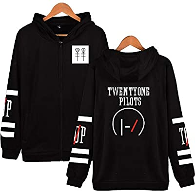 JJZHY Twenty One Pilots Band Fashion Zip Sweater Hoodie Men and Women