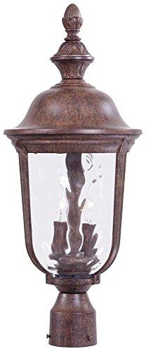 Minka Lavery Outdoor Post Lights 8995-61, Ardmore Exterior Lighting Fixture, 40 Watts, Rust -