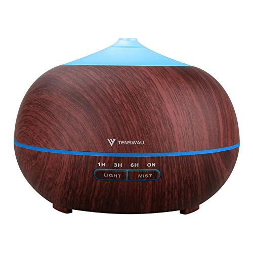Essential Oil Diffuser, 400ml Aromatherapy Air Diffuser Ultrasonic Cool Mist Humidifier, Diffusers for Essential Oils Waterless Auto for Office Bedroom & Yoga