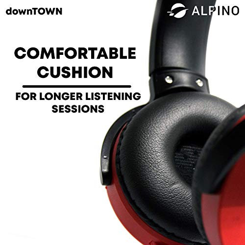 Alpino Downtown Headset Headphone Over The Ear (Red)