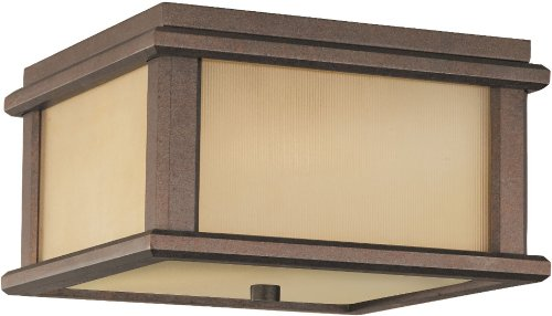 - Feiss OL3413CB-LED, Mission Lodge Outdoor Ceiling Lighting LED, Bronze