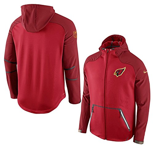 Field Mens Jacket Nike (Nike Arizona Cardinals Adult Medium On Field Full Zipper Performance Sphere Jacket)
