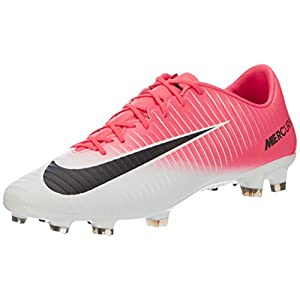 NIKE Mercurial Veloce III FG Mens Football Boots 847756 Soccer Cleats (UK 10 US 11 EU 45, Racer Pink Black White 601)