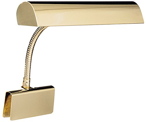 House Of Troy GP14-61 Grand Piano 14-Inch Portable Lamp, Polished Brass (Brass Piano Finish Lamp)