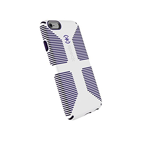 - Speck Products CandyShell Grip Cell Phone Case for iPhone 6, iPhone 6S - White/Ultraviolet Purple