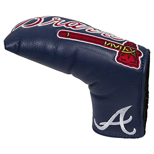 Team Golf MLB Atlanta Braves Golf Club Vintage Blade Putter Headcover, Form Fitting Design, Fits Scotty Cameron, Taylormade, Odyssey, Titleist, Ping, Callaway