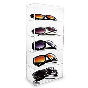 Mooca Acrylic Five Shelves Eyewear Case Display Wall Mounted/Free Standing Eye-glass Rack