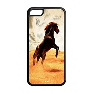 MMZ DIY PHONE CASEFashion Horse Personalized iphone 5/5s Rubber Silicone Case Cover