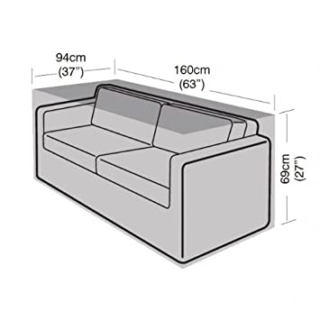 divano a 2 posti, in polietilene, copertina copertura per mobili ... - Angolo Divani In Copertina Nera