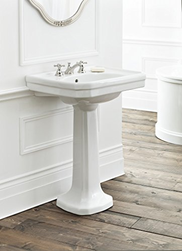 Cheviot Products Inc. 511/20-WH-8 Mayfair Pedestal Sink 3 Faucet Holes, 20'' x 16'', White by Cheviot Products Inc.