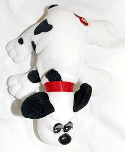 1986-vintage-newborn-pound-puppies-plush-75-white-spotted-puppy-with-short-black-ears