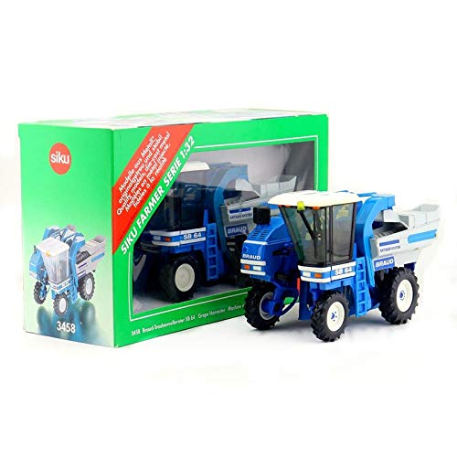 (Greensun 3458/1:32 Scale/Diecast Metal Model/Grape Harvester Tractor/Educational Toy/for Children's Gifts or Collection)
