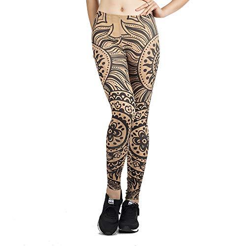 GYXYYF Bedruckte Leggings Damen Jogginghose Slim Stretch Damen Yoga