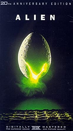 The cover for the 20th anniversary edition of Alien on VHS