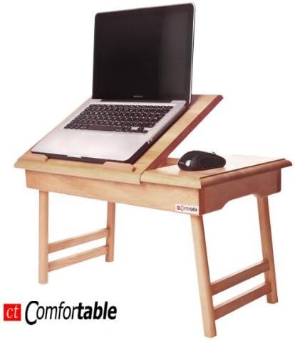 Soporte para mesa para ordenador portátil con vaso! Cómodo XXL + ...