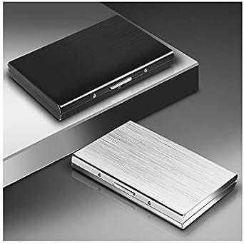 color negro ExeQianming Funda de metal para tarjetas de cr/édito sin contacto