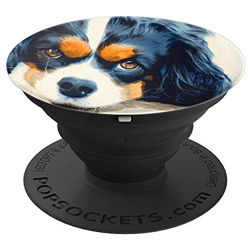 Watercolor Dog Cavalier King Charles Spaniel - PopSockets Grip and Stand for Phones and Tablets