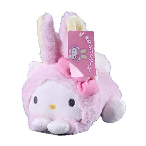 Cute Sanrio Hello Kit My Melody Cinnamor Dog Egg Yolk Pudding Dog Twin Stars Turned to Rabbit Soft Plush Toys Dolls Gifts ()
