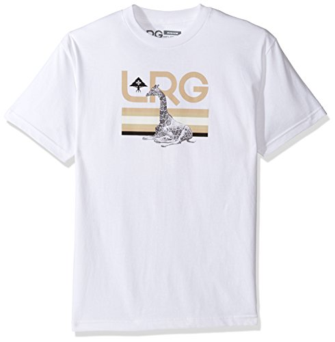 LRG Men's Big and Tall Astro Giraffe T-Shirt, White, 4XL