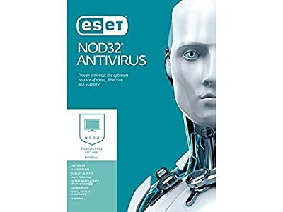 ESET NOD32 Antivirus 2017 (Free upgrade to 2018) / 3 PCs / 1 Year / Windows PC's
