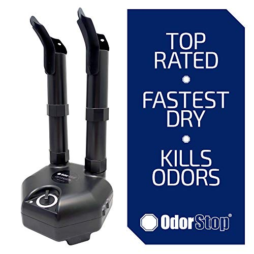 OdorStop Boot and Shoe Dryer and Deodorizer with Heat and High Output Fan (2 Boot)