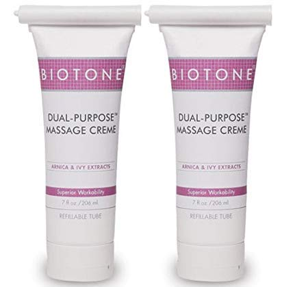 Biotone Dual Purpose Massage Creme 7 oz - Pack of 2 Tubes (Limited Edition)