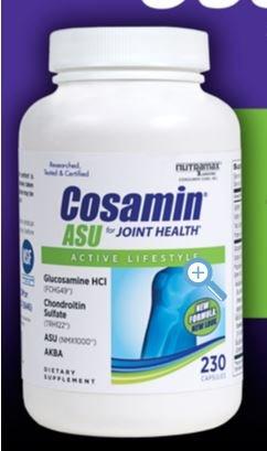 Capsules Cosamin ASU mixte santé Active Lifestyle Glucosamine HCl Chondroitin Sulfate AKBA 230 (2...