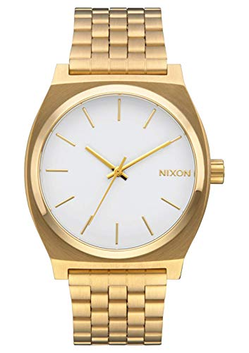 Nixon Time Teller Gold/White Women's Watch (37mm. White/Gold Face/Gold Metal -