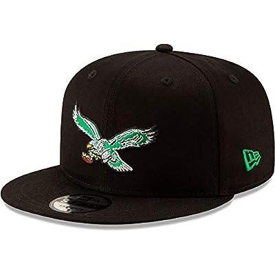 New Era Philadelphia Eagles Hat NFL Black Team Color Historic Logo 9FIFTY Snapback Adjustable Cap Adult One Size