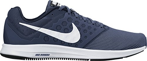 White Obsidian - Nike Mens Downshifter 7 Running Shoe Midnight Navy/White/Dark Obsidian/Black 12