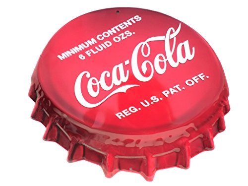 Coke Bottle Cap Sign Tin Sign 18 x 16in (Coke Bottle Tin)
