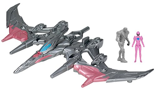 Pink Power Rangers (Power Rangers Movie Pterodactyl Battle Zord with Pink Ranger)
