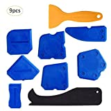 Caulking Tool Kit, Silicone Sealant Finishing Tool Grout Scraper Caulk Remover and Caulk Nozzle,9 Pieces
