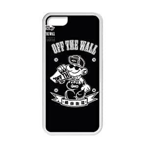"""Malcolm Vans """"off the wall"""" fashion cell phone case for iPhone 5C"""