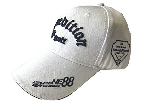 【NewEdition GOLF®】ニューエディションゴルフ?3D刺繍アスリート ワッペン コットン綿 キャップ ゴルフ 帽子 フリーサイズ NEG-203,224