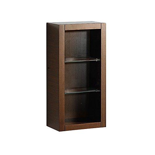 Fresca Bath FST8130WG Bathroom Linen Side Cabinet with 2 Glass Shelf, Wenge (Wenge Vanity Set)