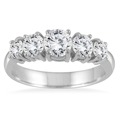 5 stone diamond ring - 1