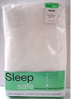 Sleep Safe Protector de colchón Impermeable Individual 90 cm x 193 cm