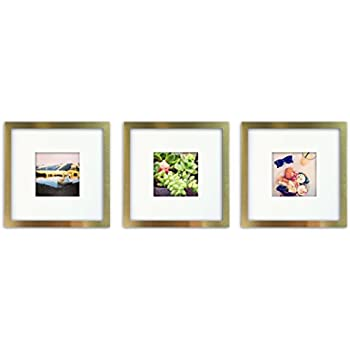 Amazon.com - 3-Set, Tiny Mighty Frames - Brushed Metal, Square ...