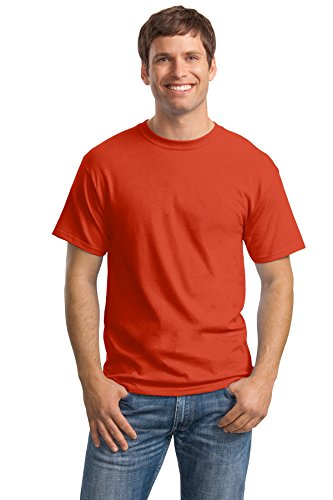 Hanes Men's Tagless Crewneck T-shirt (Pack of 5) (X-Large, Orange) ()