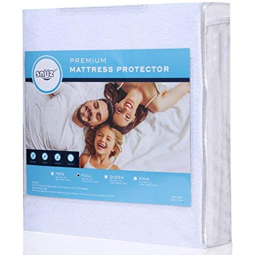 Mattress Protector Cover Waterproof Breathable Cotton Rich to Protect Mattress from Stains Spills Dust Mites Allergens and Bacteria. Guaranteed to Fit Up to 21 Inch Mattress. Vinyl Free. (Full Size)