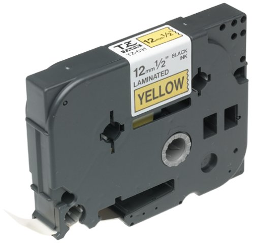 Brother TZ 631 Labeling Black Yellow
